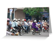 Ho Chi Minh City Traffic Greeting Card
