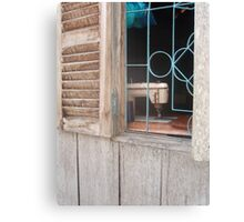 Work by the Window Canvas Print