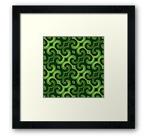 Green Spirals Pattern Framed Print
