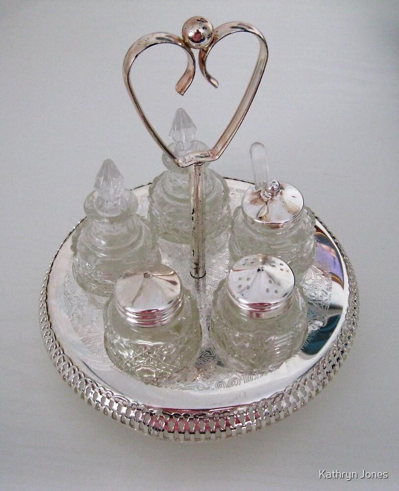 Silver and Crystal Cruet Set by Kathryn Jones