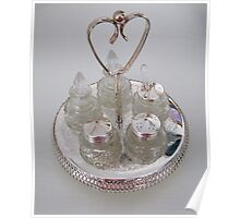 Silver and Crystal Cruet Set Poster