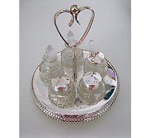 Silver and Crystal Cruet Set Photographic Print
