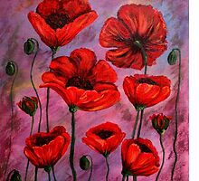 Poppies for Jazz by JanellMithani