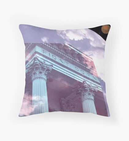 NIGHT AND DAY AT THE PRESS Throw Pillow