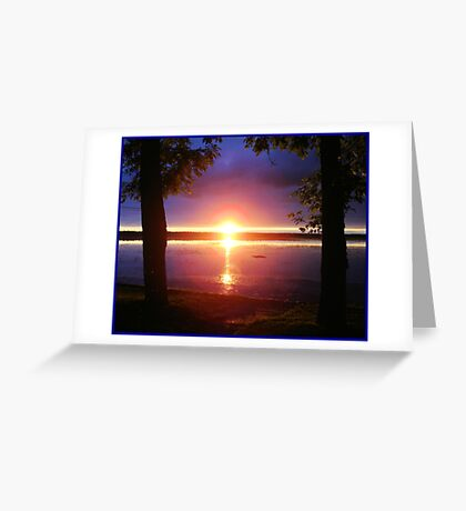 """Sunset by the Trees"" Greeting Card"