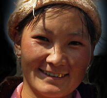 Hilltribe Girl, North Vietnam by Bev Pascoe