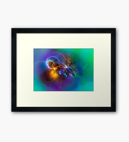 Warming up the cold Framed Print