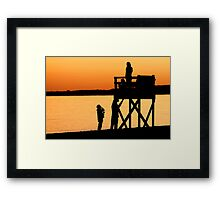 Hardings Beach at Sunset- Chatham, Cape Cod Framed Print