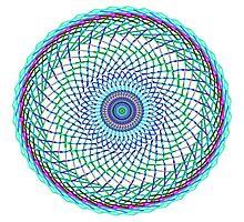 Blue Swirl Photographic Print