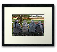 Nuns at Keukenhof Gardens Framed Print