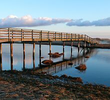 Ridgevale Beach Bridge Panorama (Chatham, Cape Cod) by Christopher Seufert
