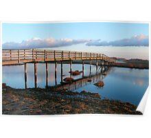 Ridgevale Beach Bridge Panorama (Chatham, Cape Cod) Poster