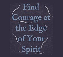 Find Courage at the Edge of Your Spirit Womens Fitted T-Shirt