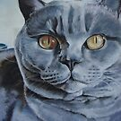 Big Blue Cat by Victoria Stanway