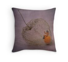Physalis - Amour en cage Throw Pillow
