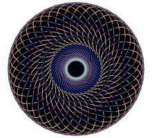 Multi Colored Swirl 1 Photographic Print