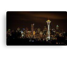 Seattle Night Lights Canvas Print