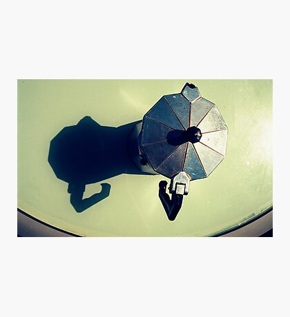 Pot Calling The Shadow Black Photographic Print