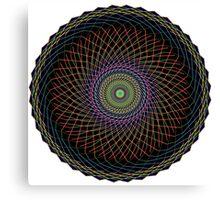 Multi Colored Swirl 3 Canvas Print