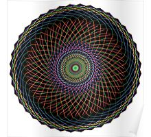 Multi Colored Swirl 3 Poster