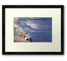 Paw Prints in the Sky Framed Print