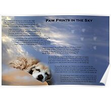 Paw Prints in the Sky Poster