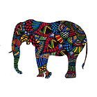African Elephant Zentangle by JustineFisher