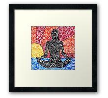 Meditation Sunset Framed Print