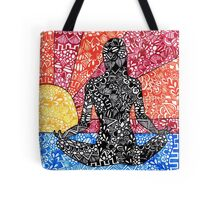 Meditation Sunset Tote Bag