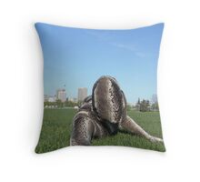 Sssssnake in the Grass 1 Throw Pillow