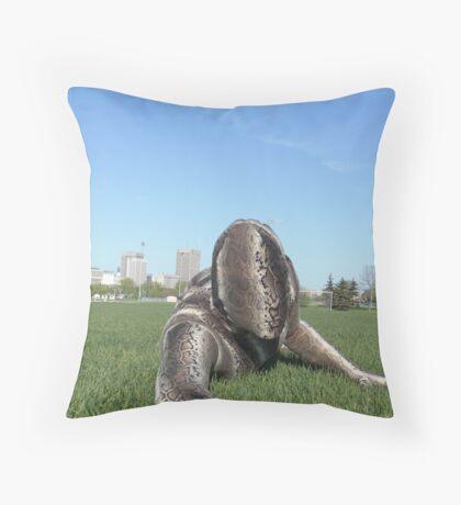 Sssssnake in the Grass 1 Throw Pillow