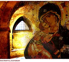 Madonna and Child in St. Thomas Hospital, Canterbury, Kent. by Liz Findlay