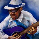 KC Blues Guitarist by John Rodriguez
