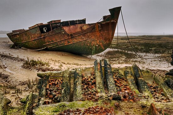 Fleetwood Marsh wrecks by Steve  Liptrot