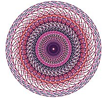 Purple Swirl Photographic Print
