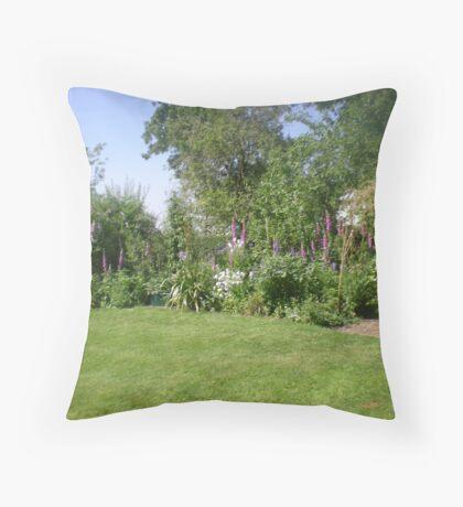 Serene Country Garden Throw Pillow