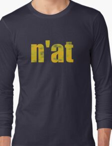 Vintage n'at (Pittsburgh) text Long Sleeve T-Shirt