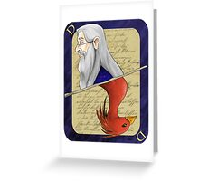 Albus Dumbledore Playing Card Greeting Card