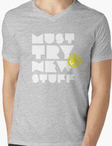 must try new stuff Mens V-Neck T-Shirt