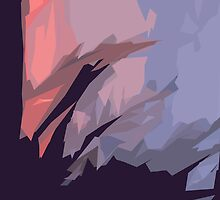 Enter Into The Forest Abstract by Adri Turner