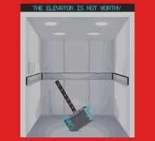 The elevator is not worthy Baby Tee