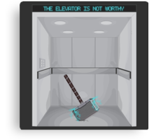 The elevator is not worthy Canvas Print