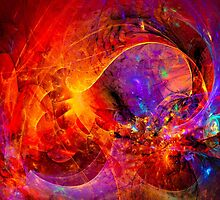 Birth of a wish - digital abstract art by gp-art