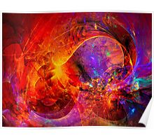 Birth of a wish - digital abstract art Poster