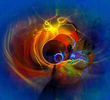 Black Hole - digital abstract art by gp-art