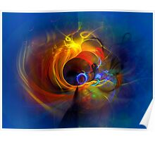 Black Hole - digital abstract art Poster