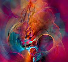 Carnival bird - digital abstract art by gp-art