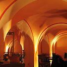 Temple in orange by Hans Bax