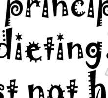DIETING? Sticker