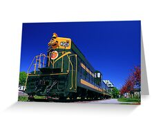 The End of the Line II Greeting Card
